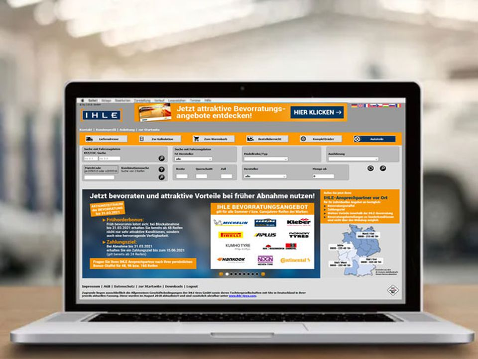 IHLE tires Reifengroßhandel Webshop