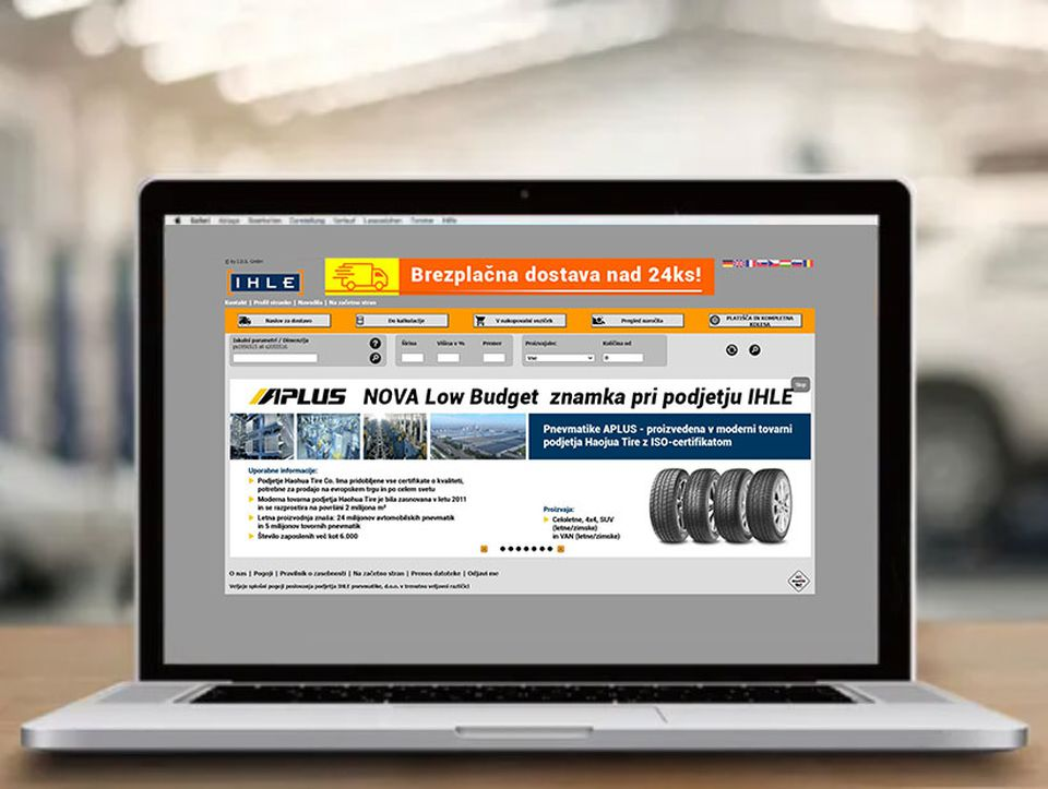IHLE spletna trgovina za veleprodajo pnevmatik
