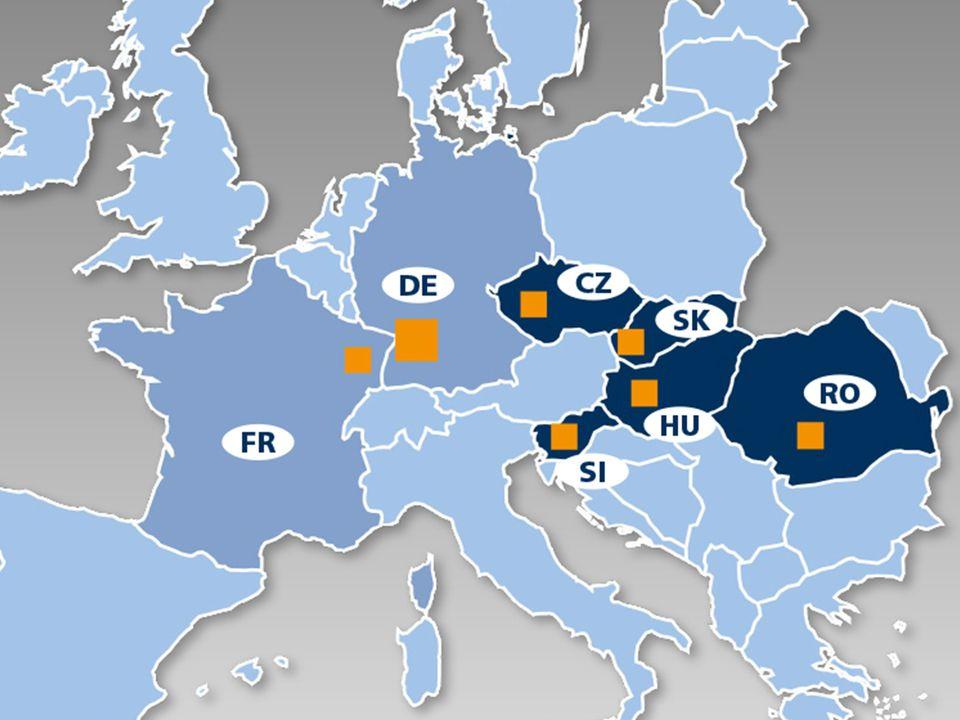Mapa Európy: obchodné zastúpenie veľkoobchodu s pneumatikami IHLE