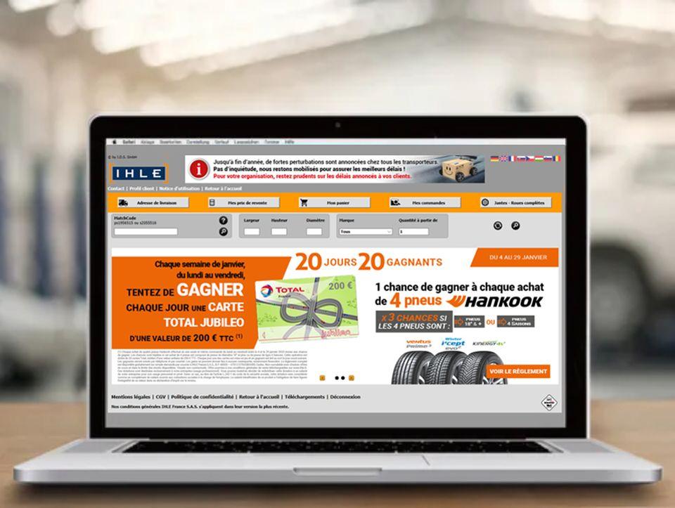 Boutique en ligne IHLE vente de pneus en gros