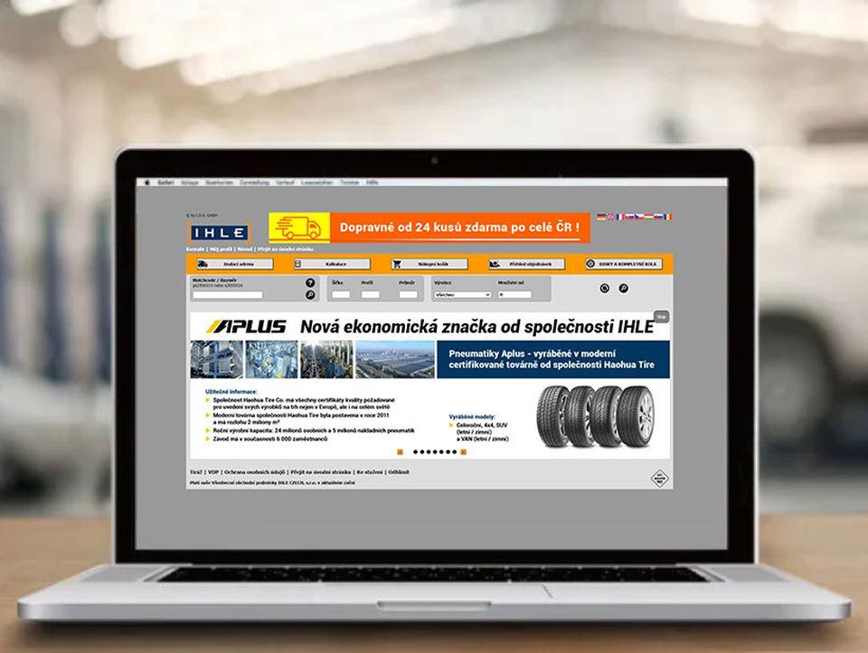 Velkoobchod pneu IHLE internetový obchod