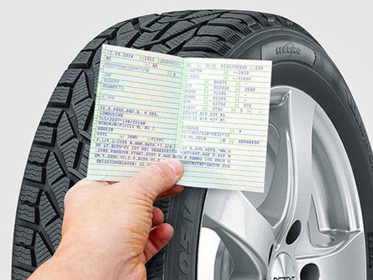 Passende Reifengröße der SEBRING Reifen im Fahrzeugschein