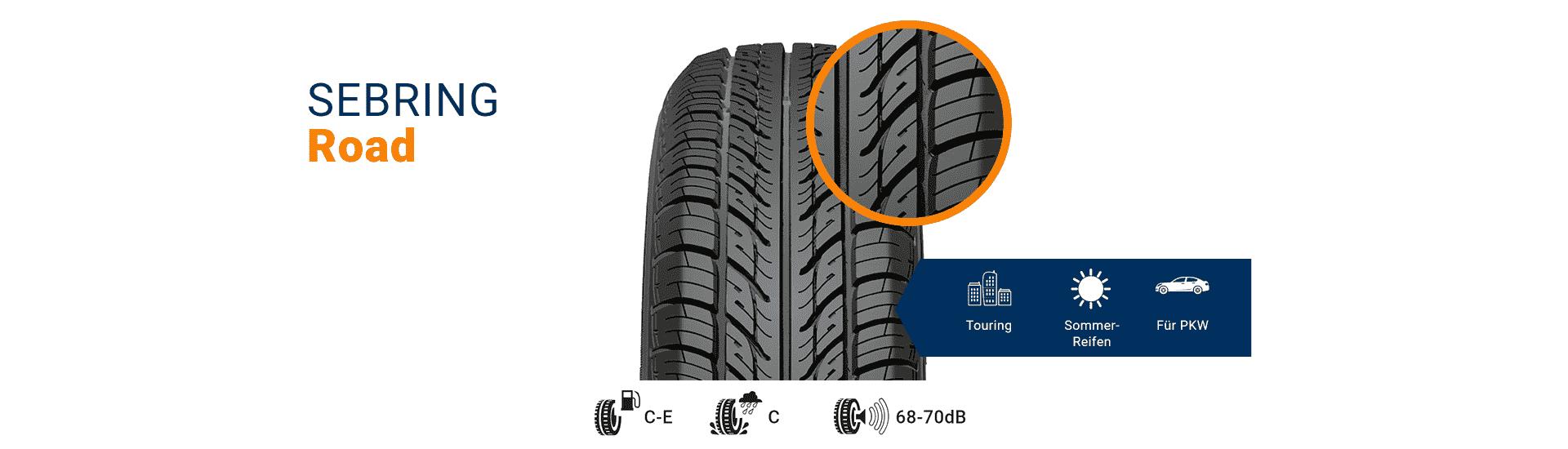 Road-Reifen von SEBRING für PKW